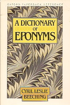 Image for A Dictionary of Eponyms
