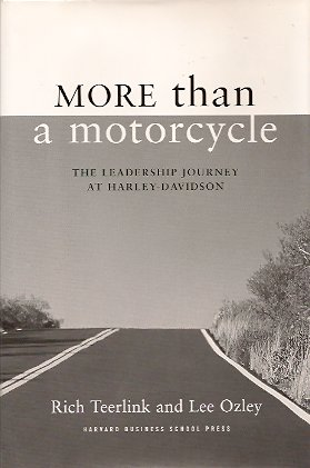 Image for More Than a Motorcycle:  The Leadership Journey at Harley-Davidson