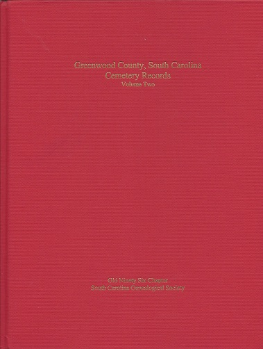 Image for Greenwood County, South Carolina: Cemetery Records