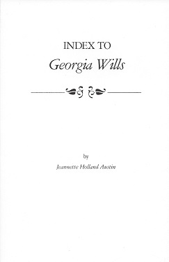 Image for Index to Georgia Wills