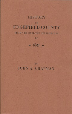 Image for History of Edgefield County [South Carolina], from the Earliest Settlements to 1897