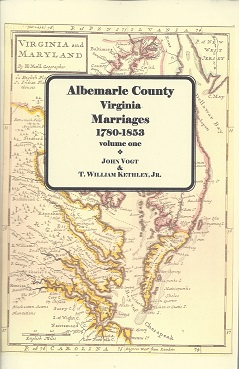 Image for Albemarle County Marriages, 1780 - 1853