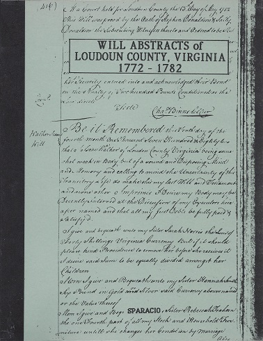 Image for Will Abstracts of Loudoun County, Virginia: Wll Book B 9 March 1772 - 9 December 1782
