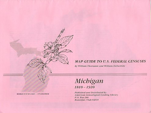 Image for MAP: Map Guide to U. S. Federal Census:  Michigan 1810-1920