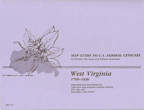 Image for MAP: Map Guide to U. S. Federal Census:  West Virginia 1790-1920
