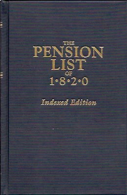 Image for The Pension List of 1820: Indexed Edition