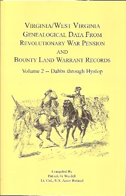 Image for Virginia and West Virginia Genealogical Data from Revolutionary War Pension and Bounty Land Warrant Records:  Dabbs-Hyslop