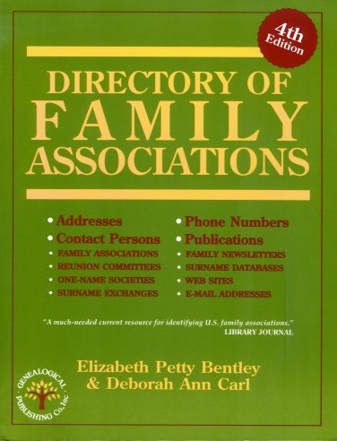Image for Directory of Family Associations