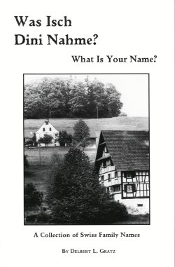 Image for Was Isch Dini Nahme? What is Your Name:  A Collection of Swiss Family Names