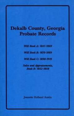 Image for Dekalb County, Georgia Probate Records
