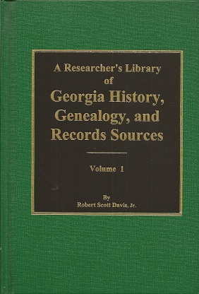 Image for Researcher's Library of Georgia History, Genealogy, and Records Sources,