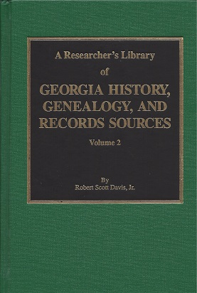 Image for A Researcher's Library of Georgia History, Genealogy, and Records Sources,