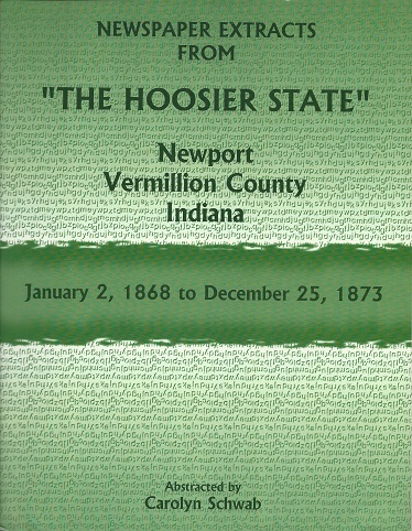 Image for Newspaper Extracts from the Hoosier State, Newport, Vermillion County, Indiana