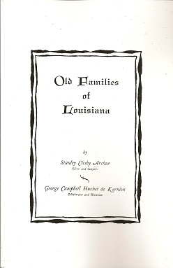 Image for Old Families of Louisiana