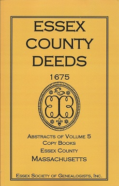 Image for Essex County Deeds 1675, Abstracts of Volume 5, Copy Books, Essex County, Massachusetts