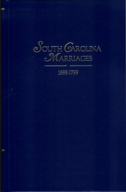 Image for South Carolina Marriages 1688-1799