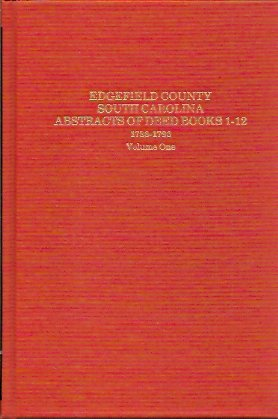Image for Edgefield County S.C., Abstracts of Deed Book 1-12  1786-1796
