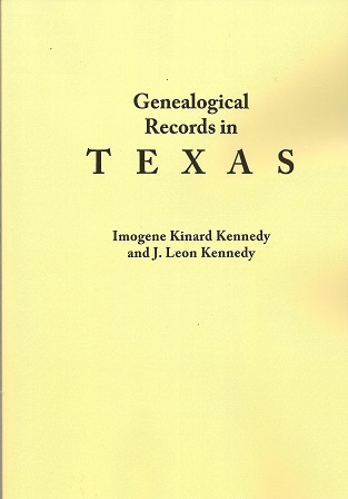 Image for Genealogical Records in Texas