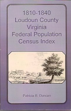 Image for 1810-1840 Loudoun County Virginia Federal Population Census Index