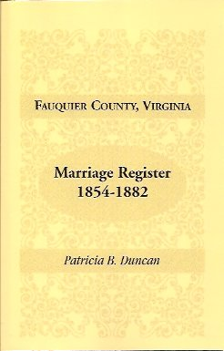 Image for Fauquier County, Virginia Marriage Register 1854-1882