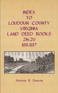 Image for Index to Loudoun County, Virginia, Land Deed Books, 2N-2U, 1811-1817