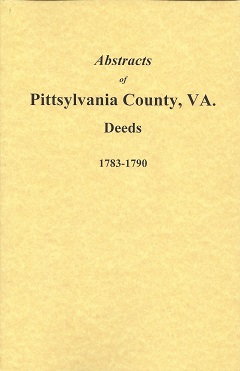 Image for Abstracts of Pittsylvania County, VA Deeds 1783-1790